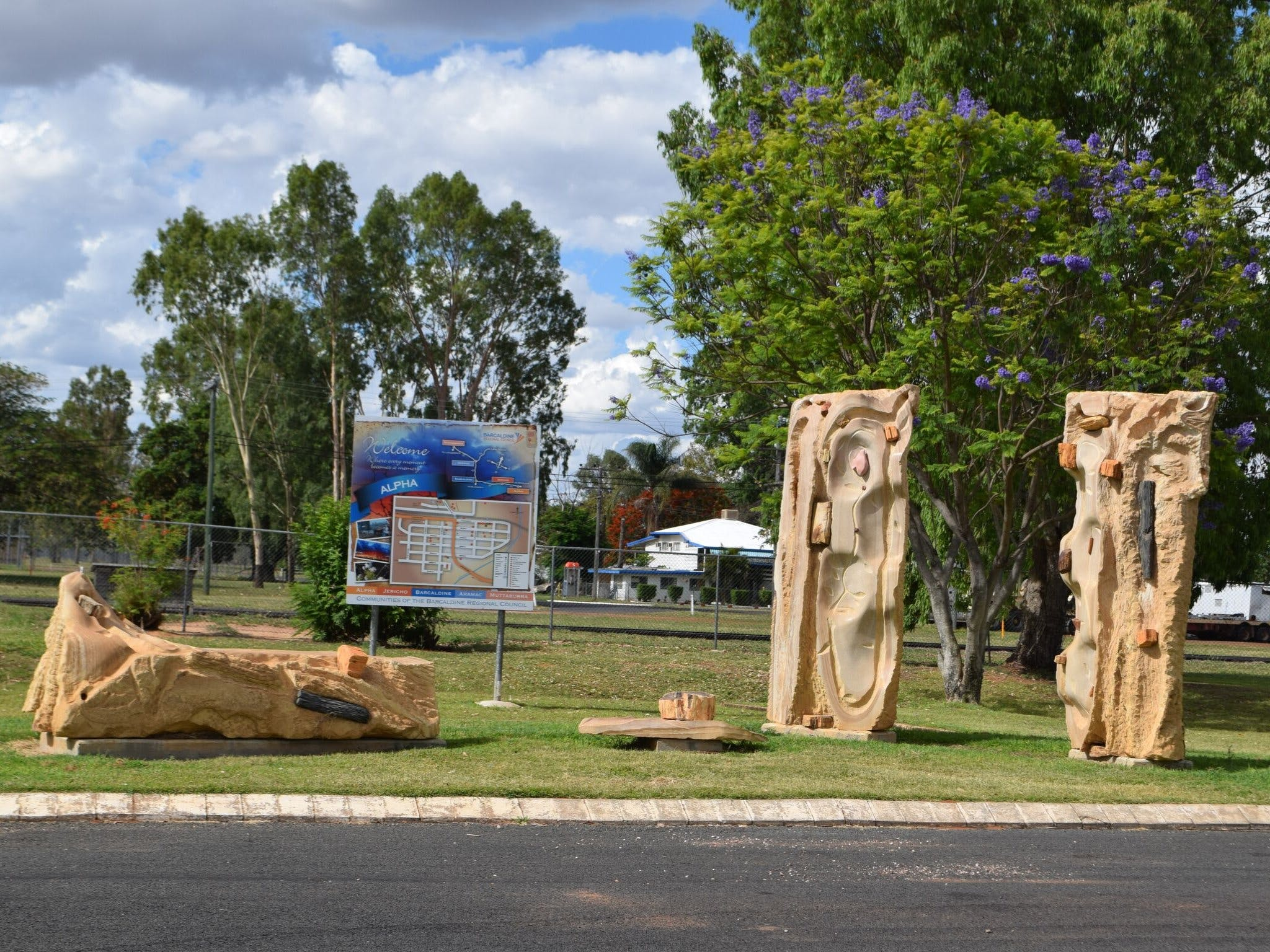 The Fossilised Forest Sculpture - Tourism Gold Coast