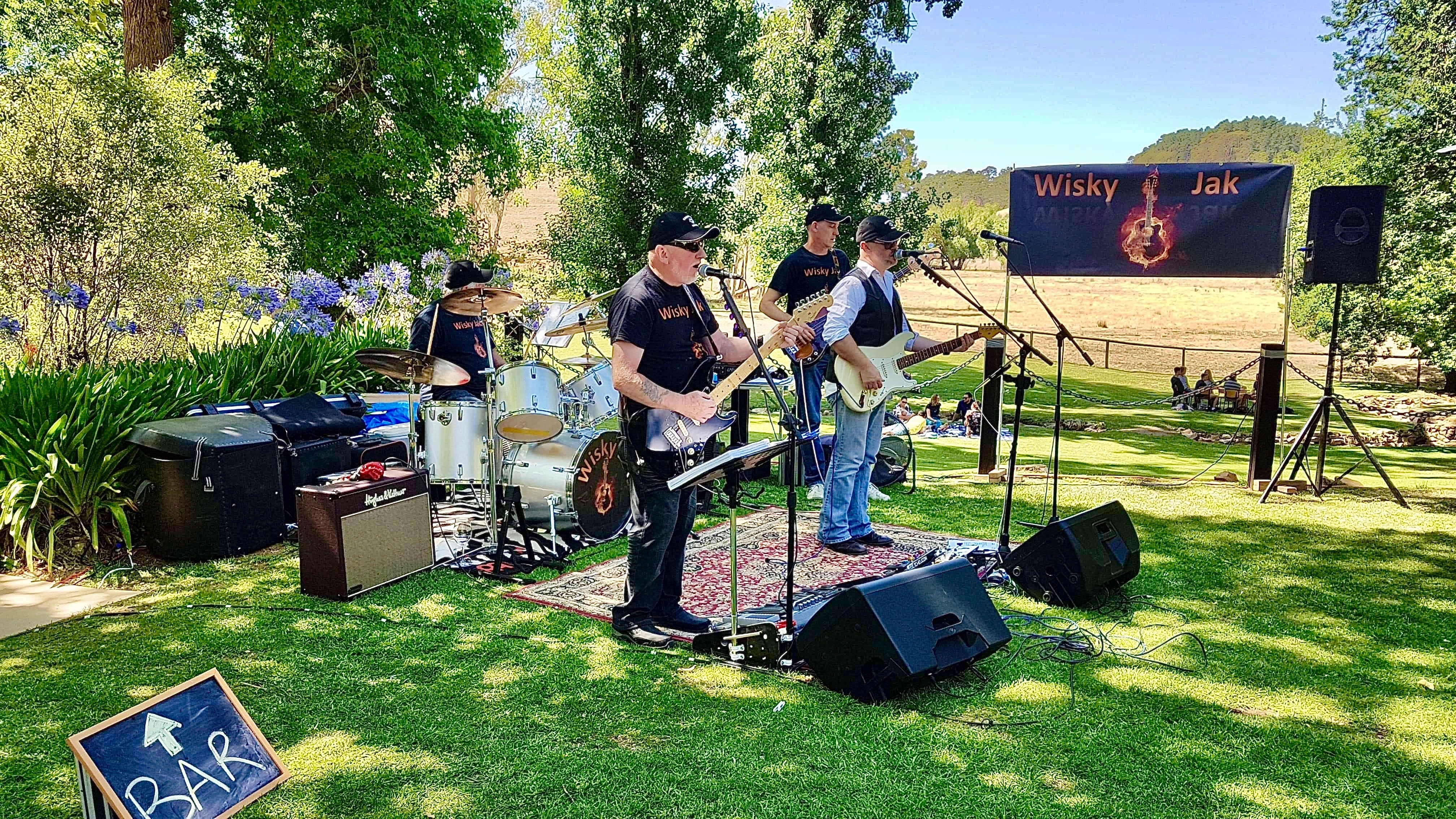 Angas Plains Wines Live in the Vines with the band -Wisky Jak - Tourism Gold Coast