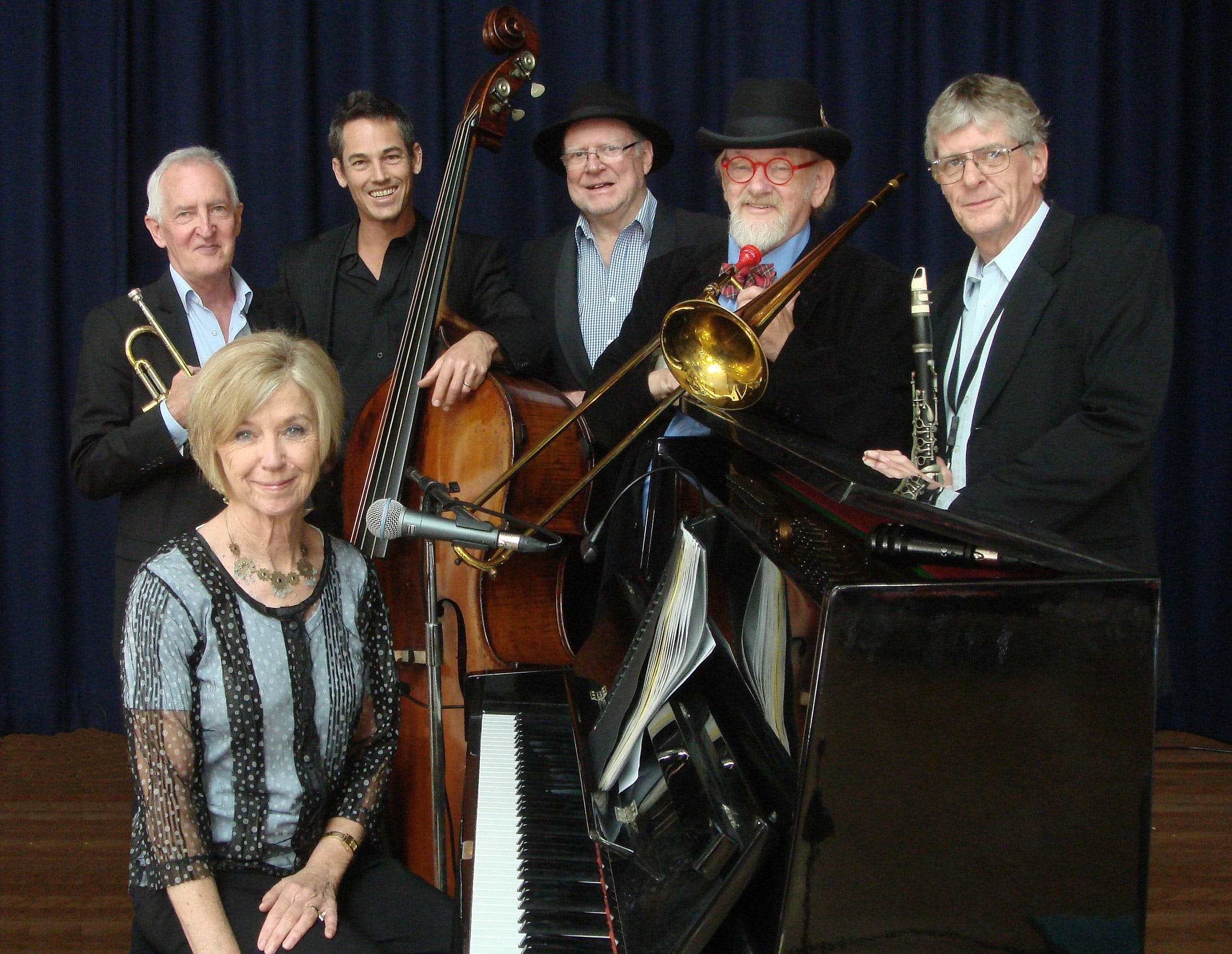 The Caxton Street Jazz Band in the Swigmore Hall at Robert Channon Wines - Tourism Gold Coast